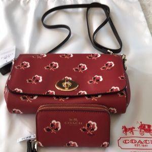 Coach Brimble Rose mini ruby crossbody, multi case